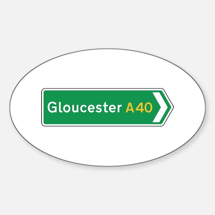 Gloucester Roadmarker, UK Oval Decal