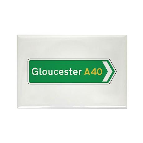Gloucester Roadmarker, UK Rectangle Magnet (10 pa