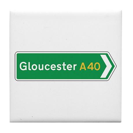Gloucester Roadmarker, UK Tile Coaster