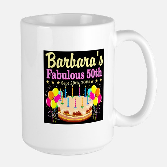 FABULOUS 50TH Large Mug