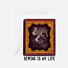 Sewing Is My Life Greeting Cards