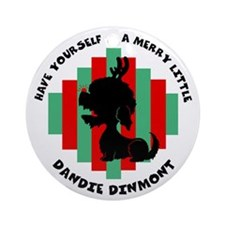 Dandie Dinmont Christmas Ornament (Round)