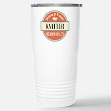 knitter vintage logo Stainless Steel Travel Mug