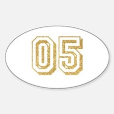 Glitter Number 5 Sports Jersey Decal