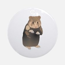 Cute Sitting Hamster Ornament (Round)