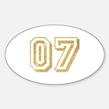 Glitter Number 7 Sports Jersey Decal
