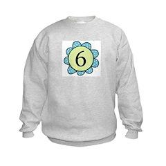 6 blue/green flower Sweatshirt