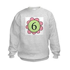 6 pink/green flower Sweatshirt