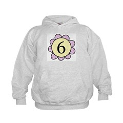 6 purple/yellow flower Hoodie