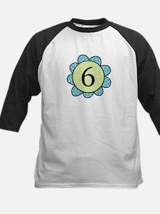 6 blue/green flower Kids Baseball Jersey