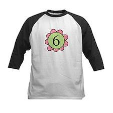 6 pink/green flower Tee