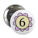 6 purple/yellow flower Button