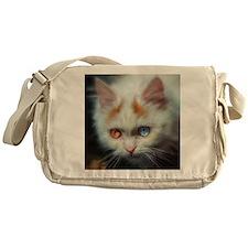 Odd-Eyed Persian Kitten Messenger Bag