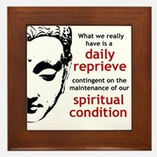 Spiritual Condition Framed Tile