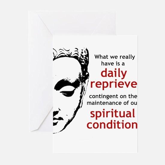 Spiritual Condition Greeting Cards