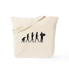Accordion Player Evolution Tote Bag