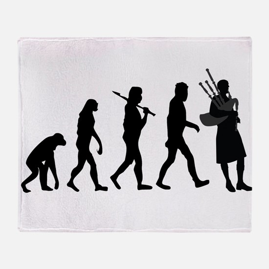 Bagpiper Evolution Throw Blanket