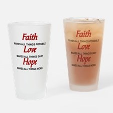 Unique Hope love faith Drinking Glass