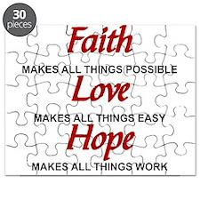 FAITH - LOVE - HOPE Puzzle