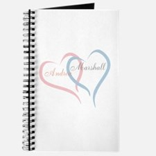 Twin Hearts to Personalize Journal