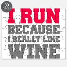 I Run Because I Really Like Wine Puzzle