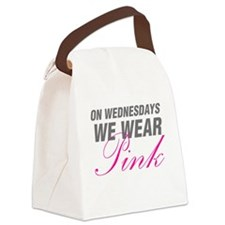 On Wednesdays We Wear Pink Canvas Lunch Bag