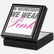 On Wednesdays We Wear Pink Keepsake Box