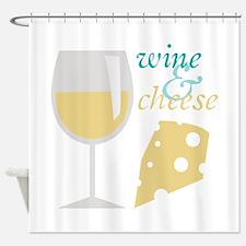 Wine & Cheese Shower Curtain