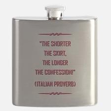 ITALIAN PROVERB Flask