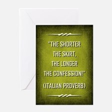 ITALIAN PROVERB Greeting Cards