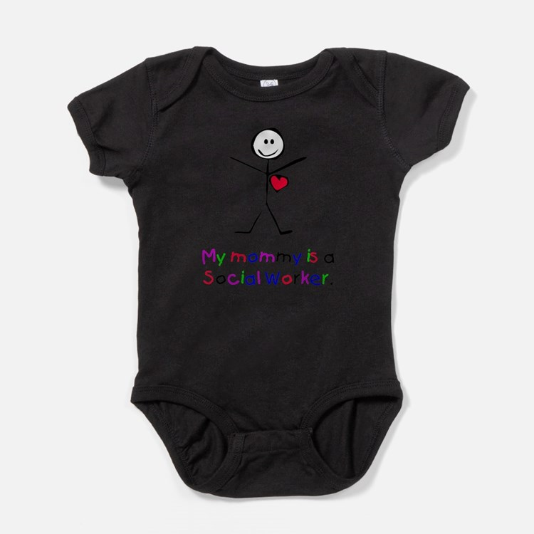 Cute Soldiers mom work of heart Baby Bodysuit