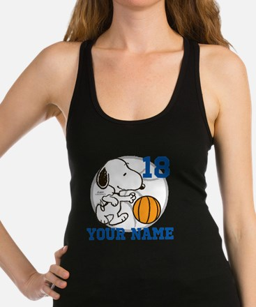 Snoopy Basketball - Personalize Racerback Tank Top