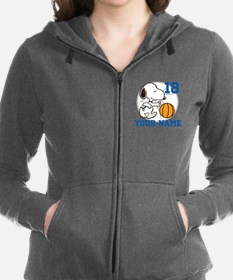 Snoopy Basketball - Personalize Women's Zip Hoodie