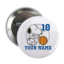"""Snoopy Basketball - Personalized 2.25"""" Button"""
