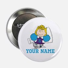 """Snoopy Sally Cheer - Personalized 2.25"""" Button"""