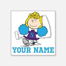 "Snoopy Sally Cheer - Person Square Sticker 3"" x 3"""