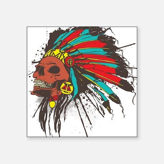 """Cute Cherokee chief Square Sticker 3"""" x 3"""""""