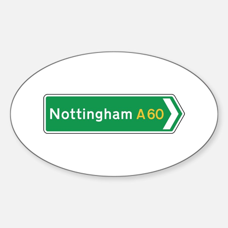 Nottingham Roadmarker, UK Oval Decal