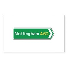 Nottingham Roadmarker, UK Rectangle Decal