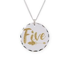 Arrow Faux Glitter Five Necklace