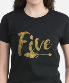 Arrow Faux Glitter Five Tee