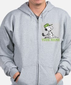 Snoopy Golf - Personalized Zipped Hoody