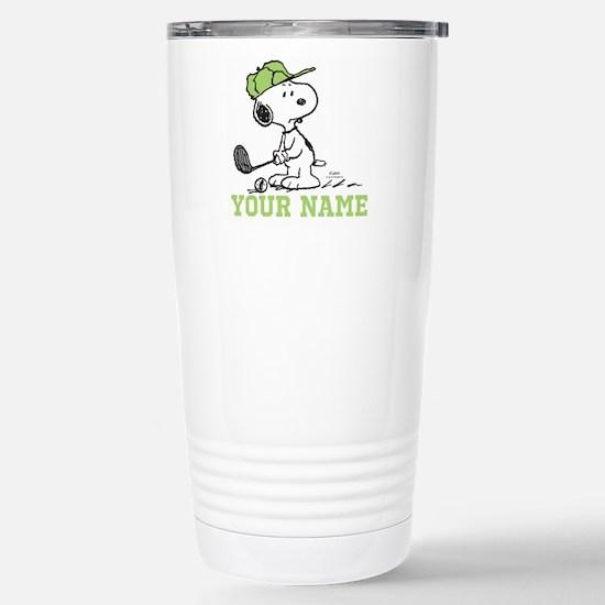 Snoopy Golf - Personali Stainless Steel Travel Mug