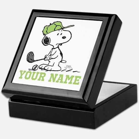 Snoopy Golf - Personalized Keepsake Box