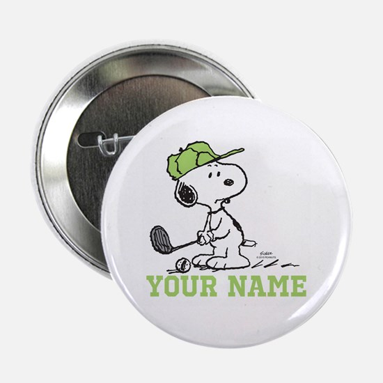 "Snoopy Golf - Personalized 2.25"" Button"