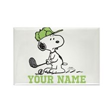 Snoopy Golf - Personalized Rectangle Magnet