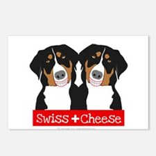 Swiss Cheese Swiss Mountain Dogs Postcards (Packag