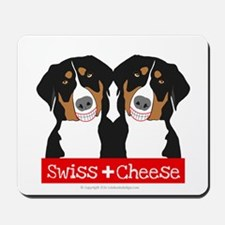 Swiss Cheese Swiss Mountain Dogs Mousepad