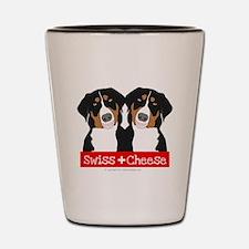 Swiss Cheese Swiss Mountain Dogs Shot Glass