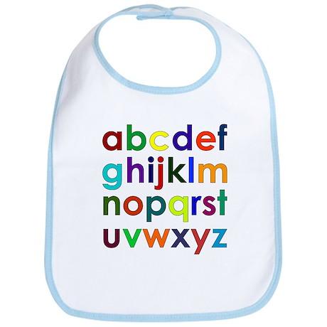 Colorful Alphabet Bib
